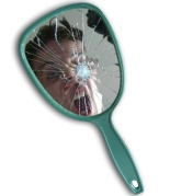 Bad luck has relegated me to the inside of this mirror...forever!