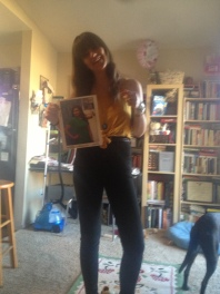 The closest I got to Perez Hilton stardom was a mini photo shoot Matti took of me posing with a signed picture of Mindy. Things could be worse..